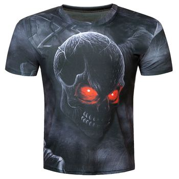 2018 t shirt men brand clothing summer skull 3d printing t-shirt male casual tshirt fashion mens short sleeve size M-5XL