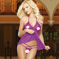 Livre Sedução Hot Lace Sexy Pijama Roupa Interior Feminina Roupas Sexy Vestuário Exotic Babydolls camisas Sexy Lingerie XL XXL