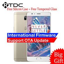 "Original Oneplus 3 Three A3000 4G LTE Mobile Phone 6GB RAM 64GB ROM Snapdragon 820 Quad Core 5.5""HD Android 6.0 Fingerprint"