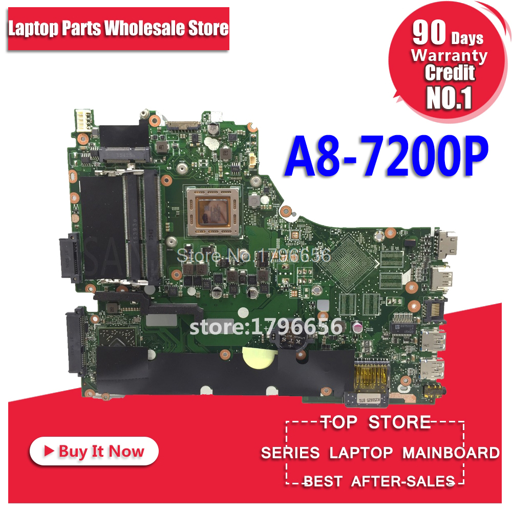 все цены на X550ZA Motherboard A8-7200 For ASUS X550Z X550 K550Z X555Z VM590Z laptop Motherboard X550ZE Mainboard X550ZA Motherboard test ok онлайн