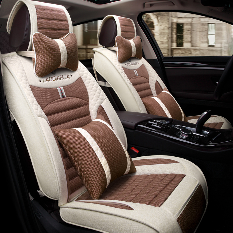 3D Car Seat Cover General Cushion Flax Car Styling For Cadillac ATS CTS XTS SRX SLS Escalade