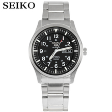 SEIKO Watch Shield No. 5 Fashion Army Automatic Mechanical Steel Waterproof Men'S Business Table SNZG13J1 seiko watch shield no 5 series men s automatic mechanical strip waterproof nightlight watch snk393k1