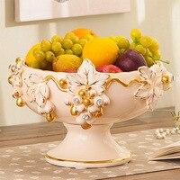 Европейский фруктовый домашний интерьер гостиная керамическая чаша для фруктов миска для фруктов виноград Европейский Стильный журнальны