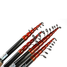 FISH KING Telescopic Fishing Rod Pole Carbon 1.8m 2.1m 2.4m 2.7m 3m High Quality Carbon Spinning Boat Rock Sea Rod