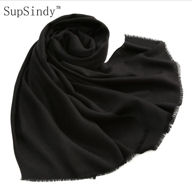 2017 nuevo invierno mantón de la bufanda mujeres 100% lana 125g borla del color del caramelo suave cómodo caliente de la manera bufandas rectángulo BUENA CALIDAD
