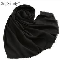 2017 New Winter Scarf Women Shawl 100 Wool 125g Tassel Candy Color Soft Comfortable Warm Fashion