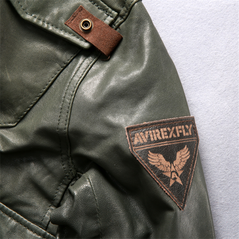 AVIREXFLY-2018-Long-hooded-leather-jacket-men-flight-jacket-brown-Genuine-cowskin-Slim-Fit-Casual-Russian (4)