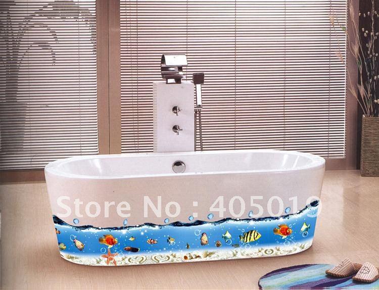 AY917 Finding Nemo Removable Sticker 60x90cm Cartoon Bathroom Decor Occean  World Wall Corner Line Cling 6