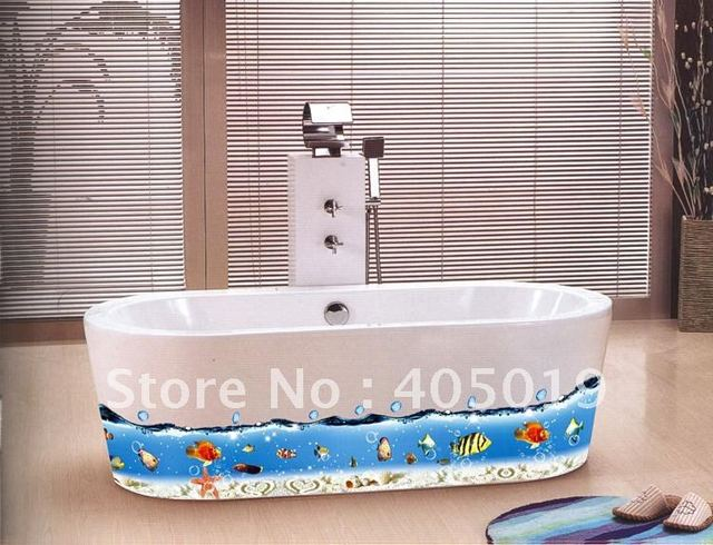 Ay917 Finding Nemo Removable Sticker 60x90cm Cartoon Bathroom Decor Occean World Wall Corner Line Cling 6