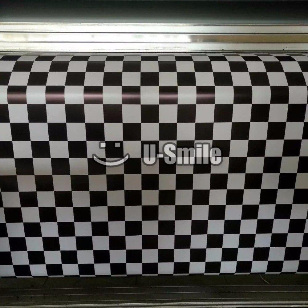 Black & White Chequered Vinyl Wrap Camo Film Racing Car Air Bubble Free Size:1.50*30m/Roll виниловые пластинки trust ideal white vinyl