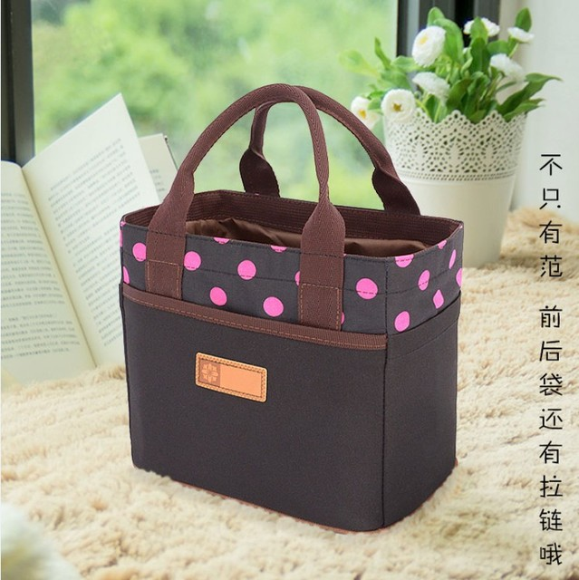 2017 New Fashion Handbag tote quality oxford cloth lunch bags drawstring square lunch bag lunch box bag