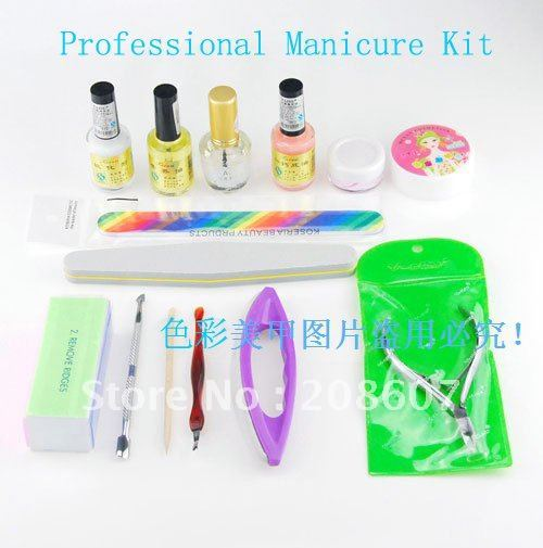 Freeshipping Nail Art Manicure Tool  Nail Care Set  Cuticle Nipper Cutter Sanding File Kit Nail Clippers Repair UV Gel