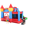 YARD Inflatable Trampoline Mini Bounce House Indoor Outdoor Jumping Castle with Ball Pool Slide
