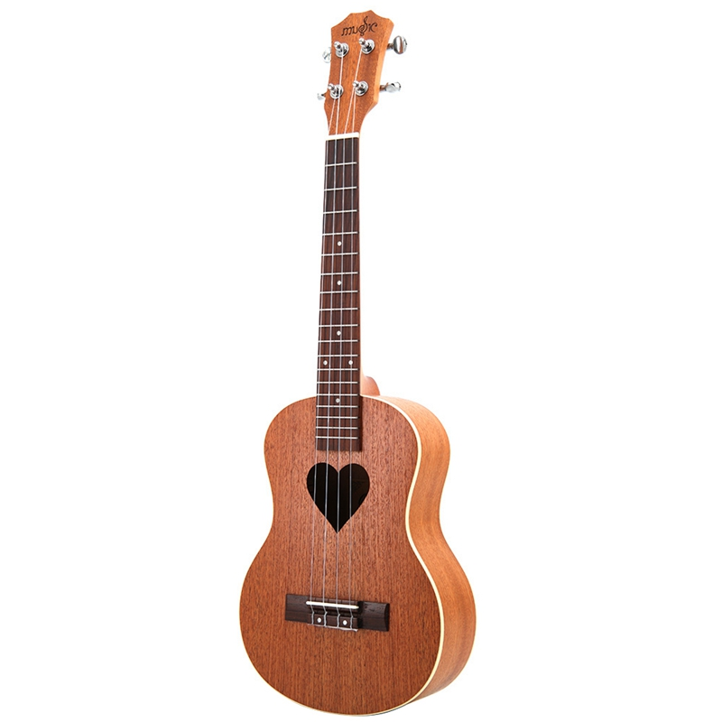 26 Inch Sapele Wood 19 Fret 26 Inch Tenor Ukulele Metal String Tuning Pegs Acoustic Cutaway Guitar Rosewood Fingerboard Hawaii