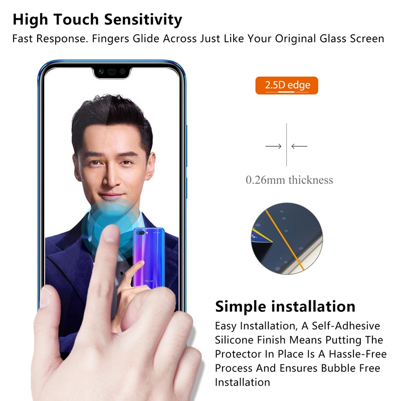 Premium Tempered Glass for Huawei Honor 10 p20 Screen Protector 9H 2 5D Protective Glass For Huawei P20 Honor 10 Honor V10 8X in Phone Screen Protectors from Cellphones Telecommunications