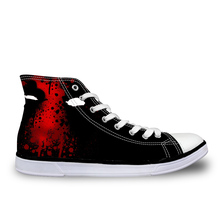 FORUDESIGNS Classic Men's Canvas Casual Shoes CartoonSuperhero Deadpool Printed Sneakers Men Flats High-top Shoes For Man Boys