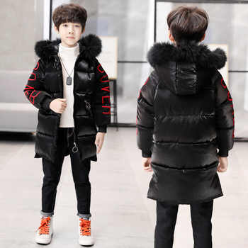 Boy Girl Winter Hooded Warm Parkas Cotton-padded Jackets 2018 New Children's Coat Fashion Letters Printed Wadded Jacket 120-160 - DISCOUNT ITEM  31% OFF All Category
