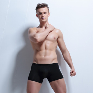Image 2 - 4ชิ้น/ล็อตไม่มีรอยต่อโปร่งใสนักมวยผู้ชายชุดชั้นในเซ็กซี่ฤดูร้อนผ้าไหมน้ำแข็งBoxershorts Man CuecaกางเกงHomme