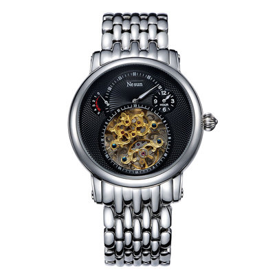 Switzerland Luxury Brand Nesun Hollow Tourbillon Watch Men Automatic Mechanical Men's Watches Sapphire Waterproof Clock N9081 4 by Nesun