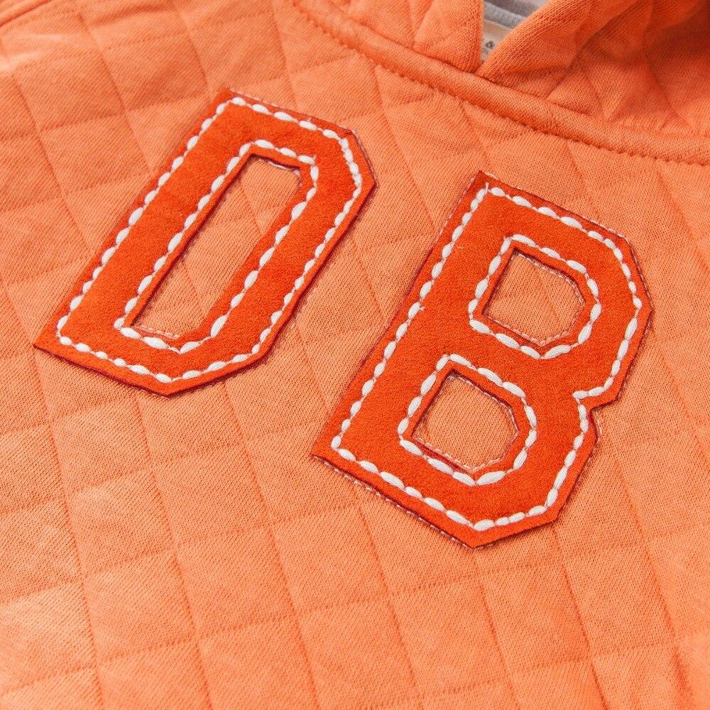 DB3829 dave bella spring baby boys plain orange hoodies padded sweatshirt
