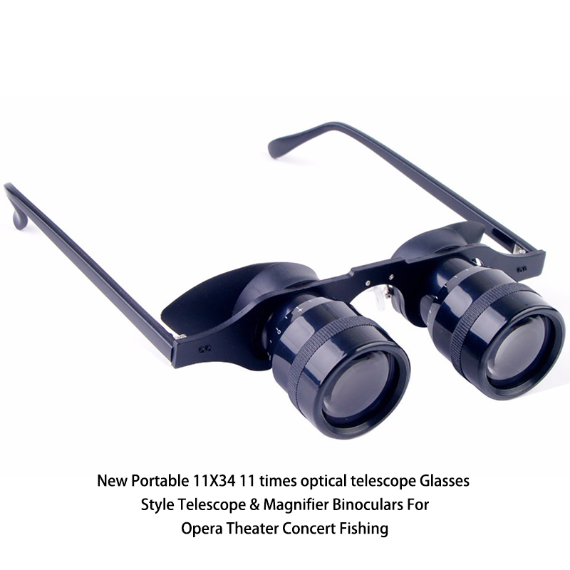 New Portable 11X34 11 times optical telescope Glasses Style Telescope & Magnifier Binoculars For Opera Theater Concert Fishing watching tv film and television entertainment tv enlarge glasses reading glasses concert telescope fishing glasses