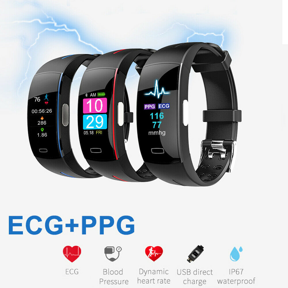 <font><b>P3</b></font> Plus <font><b>Smart</b></font> Wrist <font><b>Band</b></font> ECG+PPG Measurement Dynamic Heart Rate Monitor USB Charge Fitness Tracker Color Screen <font><b>Smart</b></font> Watch image