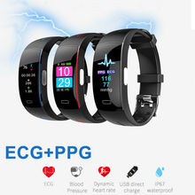 P3 Plus Smart Wrist Band ECG+PPG Measurement Dynamic Heart Rate Monitor USB Charge Fitness Tracker Color Screen Smart Watch scomas newest p3 smart wrist band ecg ppg measurement dynamic heart rate monitor usb charge fitness tracker smart watch band