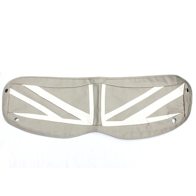 Brand New Trunk Cargo Cover High Quality Leather White Union Jack UV  Protected Mini Cooper Car