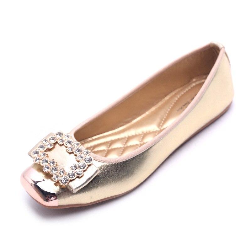 €11.27 44% de DESCUENTO|Zapatos de Ballet para mujer, zapatos de barco para mujer, mocasines, sandalias, decoración de diamantes de imitación, diseño