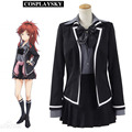 Qualidea Code Asuha Chigusa Cosplay Costume Black School Uniform with Holster Halloween Party Dress for Woman Girls
