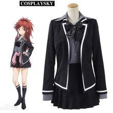 Código qualidea asuha chigusa cosplay uniforme escolar con funda de halloween party dress negro para mujer niñas