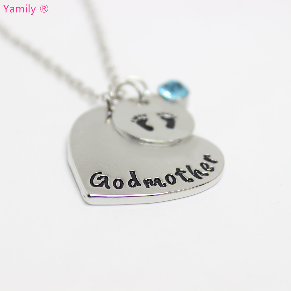 Yamily 10pcslot personalized godmother necklace heart necklace baby yamily 10pcslot personalized godmother necklace heart necklace baby feet charms pendant necklace gift ideas for godmother in pendant necklaces from jewelry aloadofball Gallery