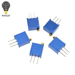 3296 W 50 100 200 500 1 K 50 20 10 5 2 K K K K K 100 K 200 K 500 K 1 M ohm Multiturn Trimmer Potenciômetro de Alta Precisão Resistor Variável