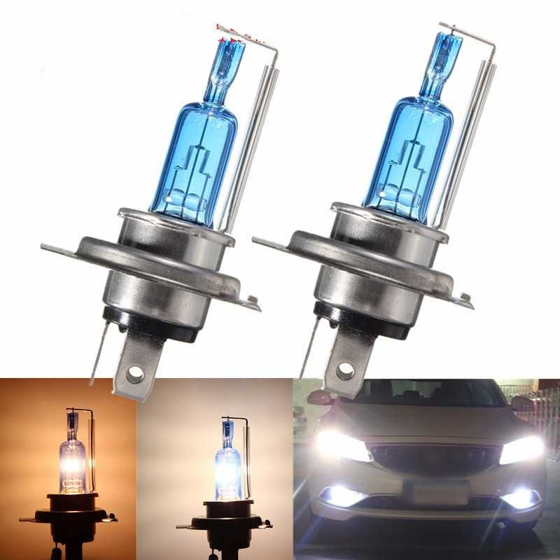 H4 35 W Xenon HID Headlight Halogen Bulb Light High And Low Beam Putih 6000 K Motor Mobil Lampu Aksesoris
