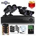 4CH CCTV KIT Sistema de câmera HD 1200TVL = 720 P 1 TB HDD IR Bala CCTV Ao Ar Livre Sistema de Câmera De Segurança de Vigilância HDMI VGA