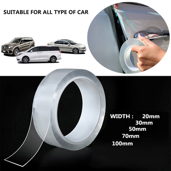 Car Sticker Protector Strip Transparent Film Body Nano Velcro Car Door Edge Side Guard Anti Collision Scuff Auto Door Protection 5m car anti collision side door edge guard rubber bumper protection sticker strip