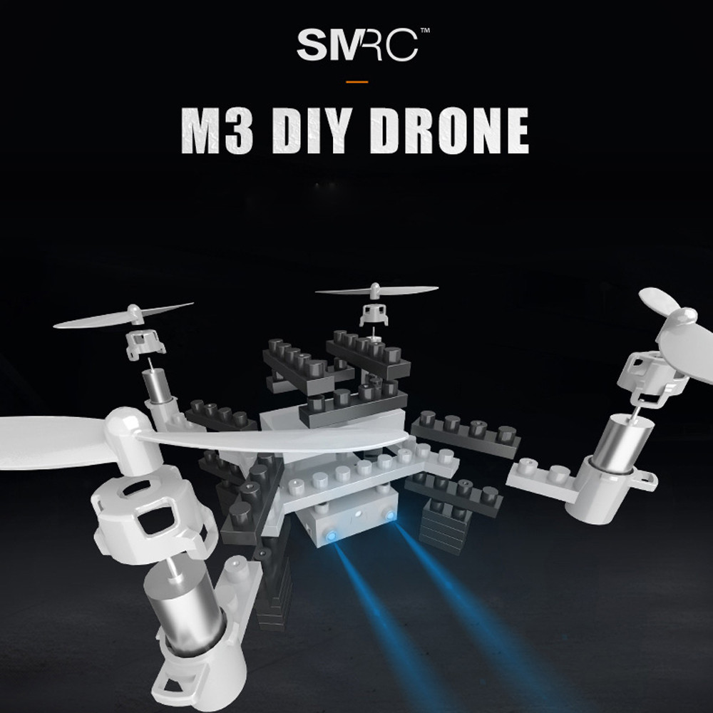 Hiinst DIY M3 2.4G 4CH 6-aixs Gyro RTF with Headless Mode Altitude Hold HD Camera Wifi 0.3MP Camera Building Block RC Quadcopter jjr c jjrc h43wh h43 selfie elfie wifi fpv with hd camera altitude hold headless mode foldable arm rc quadcopter drone h37 mini