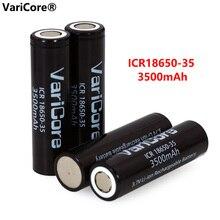 Varicore original novo icr 18650 35 3500mah bateria recarregável 3.7v de alta capacidade para lanterna ues