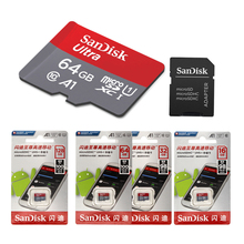 New arrival Sandisk A1 Micro sd card Class10 16GB 32gb MicroSD 64gb 128GB 100Mb/s Original memory card + retail package
