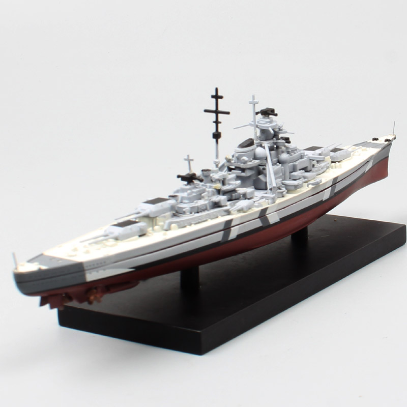 1/1250 Mini Atlas Deagostini German KMS Bismarck Battleship Models Diecast Warship Toy Hobby Gift For Collection Ship Boat Kid's