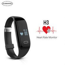 Oussirro умный браслет h3 bluetooth 4.0 фитнес-трекер smartband монитор сердечного ритма браслет для android ios пк mi группа 2