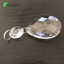 10 шт./лот, 50 мм, Bauhinia, прозрачная художественная стеклянная люстра, Подвесная лампа, подвесные призмы, многогранные бусины, домашний декор X'mas