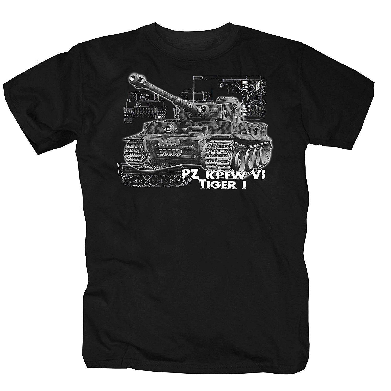 2019 Novas Camisas Dos Homens T Shirt T-Shirt Do Tigre Tanque de Honra Reich Alemão Culto Divertido Exército Soldado Impressão Em Torno Do Pescoço Homem