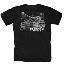 2019 nova camisa dos homens t camisa tigre tanque honra alemão reich exército divertido culto soldado imprimir em torno do pescoço homem