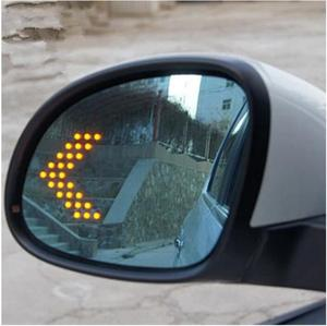 LED heating Rear side turn signal blue curvature anti defogging dazzling rearview mirror for VW Tiguan Sharan