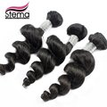 Envío gratis Loose Wave peruana extensión del pelo humano 3 unids/lote peruano virgen pelo suelto Wave humano trenzado bulto del pelo