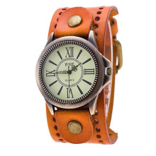 men watch unique CCQ Luxury Br Vintage Leather Watch Men Women Wristwatch Ladies Dress Quartz Watch relogio clock P*21