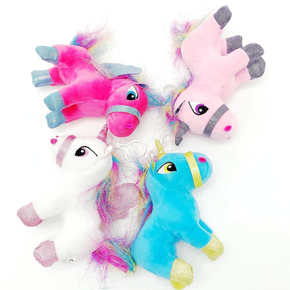 Stuffed Animals & Plush Toys & Hobbies Unicorn Plush Cartoon Animals Soft Puzzle Bag Xmas Pendants Doll Stuffed Animal Unicorn Horse Rainbow Plush Keychain Gift New Choice Materials
