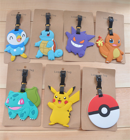COOL 1PCS Pocket Monster Anime Luggage Tag Travel Accessories Suitcase ID Address Portable Tags Holder Baggage Labels New