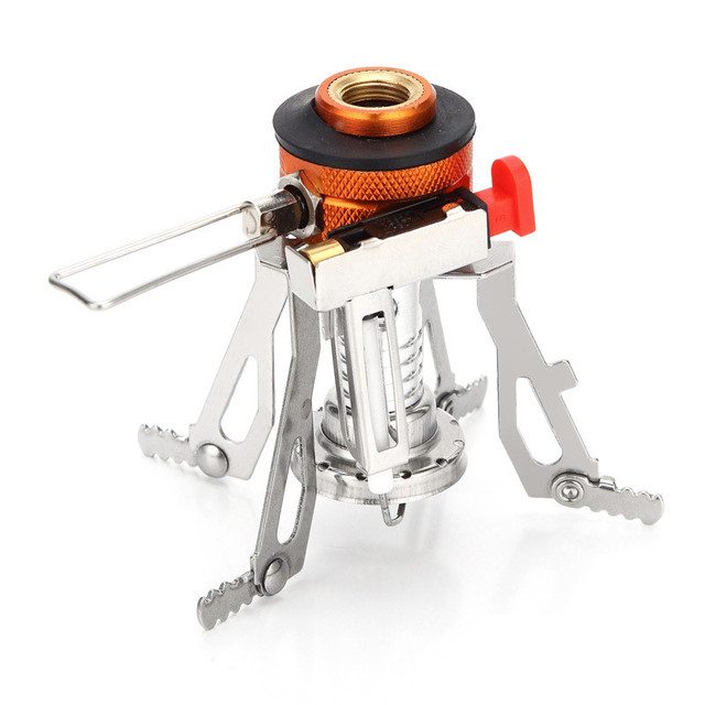 3000W Outdoor Portable Mini Pocket Camping Stove Gas Stove Backpacking Hiking Picnic Cooking Tool